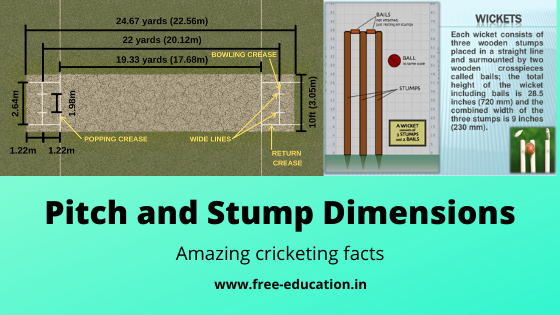 Pitch and stump dimensions