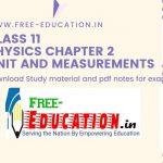 Unit and Measurements
