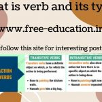 what is verb and its types