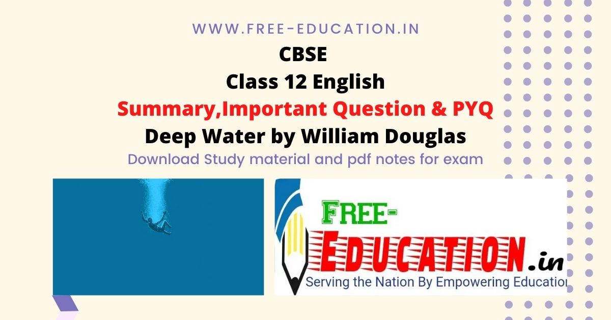 Deep Water By William Douglas