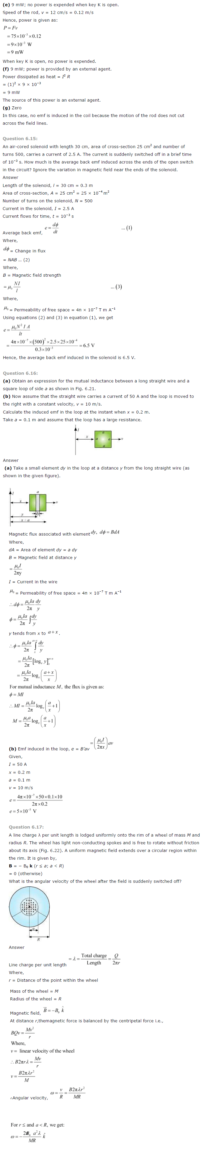 class 12 physics electromagnetic induction ncert solution