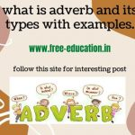 what is adverb and its types