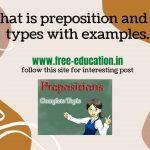 prepositions definition