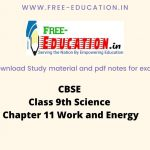 Class 9th Work and Energy Notes
