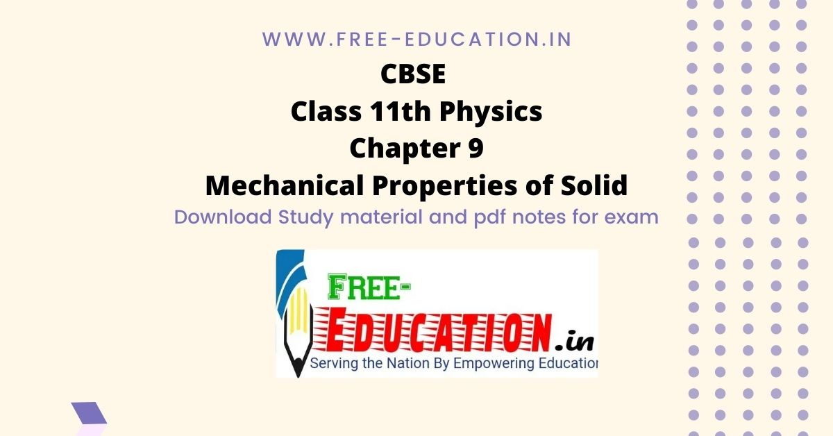 Mechanical Properties of Solid