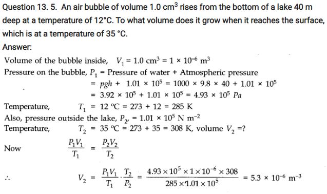 Class 11 Physics Chapter 13 Kinetic Theory Notes & NCERT Solution