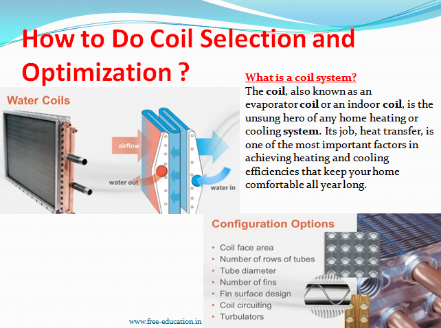 How to do coil selection and optimization?