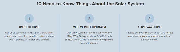 Interesting facts about solar system